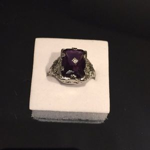 Stamped 925(sterling silver) 6 CARATS Amethyst